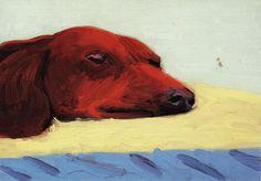 šškn — David Hockney (British, b. David Hockney Ipad, David Hockney Art, David Hockney Paintings, Robert Rauschenberg, Edward Hopper, Dog Portraits, Portrait Art, Pop Art, Arte Dachshund