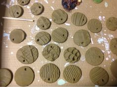 Kindergarten: shoe print charms with a focus on surface texture and glazing Mrs. Knight's Smartest Artists: K