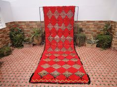 antique rug by moroccowool Berber Rug, Carpet Runner, Color Combinations, Moroccan, Christmas Stockings, Bohemian Rug, Red Carpet, Weaving, The Incredibles