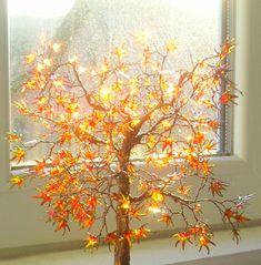 Art Tree Gold Autumn Wire Night Lamp by ArtDollClayDecor on Etsy