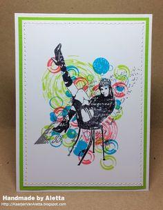 Handmade by Aletta: Art Journey 59 - 50% wit