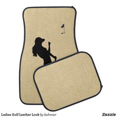 Ladies Golf Leather Look Car Floor Mat Car Mats, Car Floor Mats, Ladies Golf, Christmas Card Holders, Keep It Cleaner, Holiday Cards, Initials, Lady, Leather