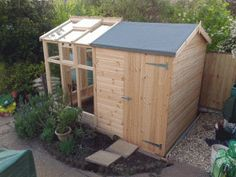 Garden Sheds And Greenhouse Combinations make your own shed, save some $$$ | sheds diy | pinterest