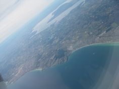 view from plane 25th Dec of the Mornington Peninsula, you can see French island in western port bay