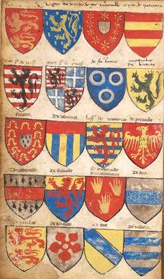 «Armorial Le Breton ou Montjoie-Chandon», France, 1292-1295 et 1470-1480, environ 950 écus [Archives nationales AE I 25, n°6, MM684]
