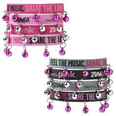 $2.99 Zumba Party in Pink Rubber Bracelet w Bells | eBay