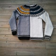 Ravelry: kressstina's Riddari sweater // Riddarigenser Icelandic Sweaters, Wool Sweaters, Fair Isle Pattern, Fair Isle Knitting, Knitting For Kids, Crochet Clothes, Couture, Knitwear, Knit Crochet