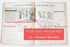Four 1940s Wardrobes // Budget Minded