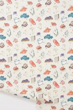 Mineral Study Wallpaper #anthropologie