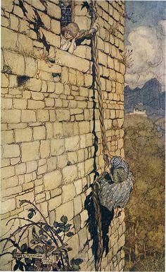 Rapunzel -- Arthur Rackham -- Fairytale Illustration