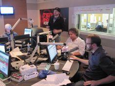 Bob Mackowycz and Bruce Arthur in studio wile on Cybulski & Co.