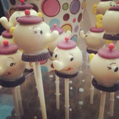 Mrs Potts Cake Pops - very cool indeed (childhood disney fan!)