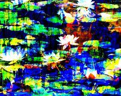 abstrakte ,Malerei ,  Fotografie , großformatig, Onlineshop,Natur,Landschaft,dramfolistisch,,Eggstein seerosen,