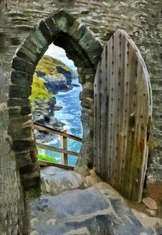 Amazing Snaps: Gate To The Sea, Tintagel, UK | See more