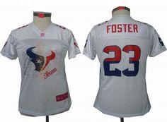 Houston Texans 23 Arian Foster Autographed Elite Blue Jersey