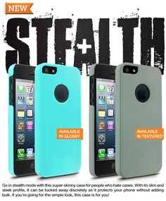 The iPhone 5 slim case, Stealth, is now available.  This is the perfect case for those individuals who don't like cases!