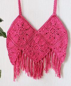 Crochet Summer Pink Crop Top