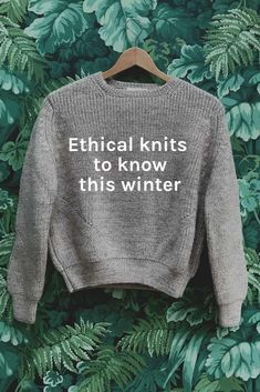 Knitwear goals for sustainable fashionistas! These brands are British, slow made, sustainably sourced and awesome! #knitwear #knitting '#lowwaste #sustainability #sustainablefashion