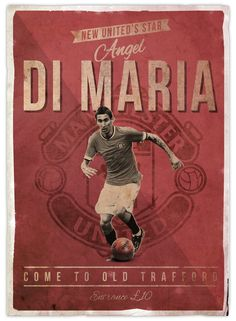Retro football posters on Behance God Of Football, Football Is Life, Football Design, Retro Football, Football Art, Soccer Art, Soccer Poster, Fifa, Manchester United Players