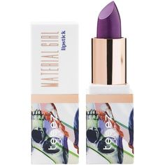 Teeez Cosmetics Material Girl Lipstick - 1.2 oz. (£21) ❤ liked on Polyvore featuring beauty products, makeup, lip makeup, lipstick, purple addiction, paraben-free lipstick, glossy lipstick, gloss lipstick, lip gloss makeup and moisturizing lipstick