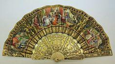 >y< hand-painted fan