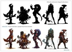 Academy of Art Character and Creature Design Notes: The use of Silhouettes in Concept Design Character Creation, Character Concept, Concept Art, Character Reference, Art Reference, Silhouette Vector, Silhouette Design, Silhouettes, Bg Design