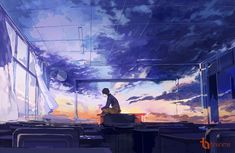 Find images and videos about anime, sky and manga on We Heart It - the app to get lost in what you love. Art Manga, Anime Art, Arte Peculiar, Graphisches Design, Scenery Wallpaper, Anime Scenery, Anime Guys, Les Oeuvres, Fantasy Art