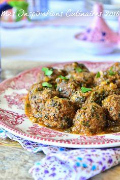 Tajine de boulettes viande hachée épinards