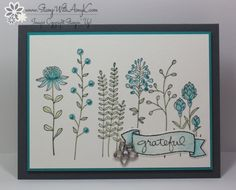 by Amy: Flowering Fields (SAB), Endless Thanks, Botanical Gardens Jewels - all from Stampin' Up!
