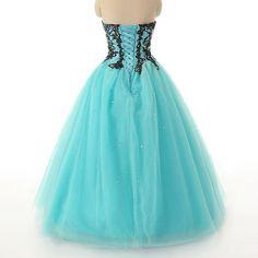 KissBridal Women's Appliques Tulle Ball Evening Gown Prom Dress Plus Size | Amazon.com