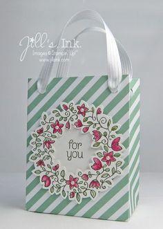 Gift Bag Punch Board - Circle of Spring Gift Bag www.JillsInk.com