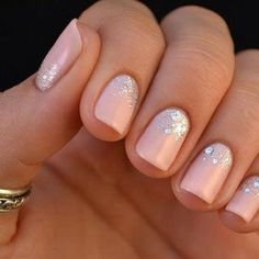 Subtle nails with glitter