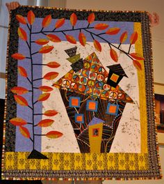 Tonye Belinda Phillips:  wonky house quilt seen at Mary's River Quilt Guild
