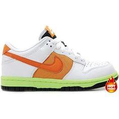 finest selection 0aacc 961aa Womens Nike Dunk Low –White  Orange Blaze –Shock Orange