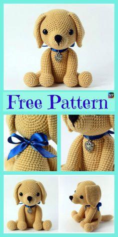 Adorable Crochet Amigurumi Dog – Free Pattern #freecrochetpatterns #dog #puppy #pets