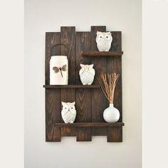 Wall Shelf Rack, Rustic Wall Shelves, Pallet Wall Shelves, Reclaimed Wood Shelves, Pallet Wall Art, Rustic Wood Signs, Rustic Walls, Hanging Shelves, Rustic Decor