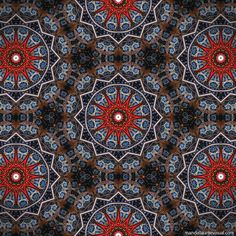 """Order of the Cruise""  - fabric from mandalas by Marcelo Dalla, via ManDalla Arte Visual"