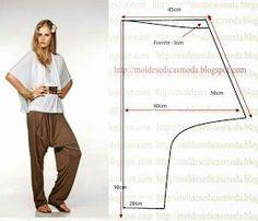 how to make thai fisherman pants pattern Diy Clothing, Clothing Patterns, Dress Patterns, Sewing Patterns, Sewing Pants, Sewing Clothes, Drop Crotch, Pattern Cutting, Pattern Making