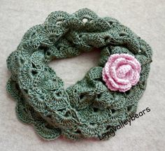 Hand Crochet Cowl Neck Warmer Cowl by longvalleybears on Etsy, $39.95