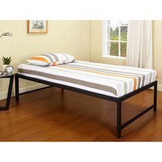 ku0026b b3912 hi riser bed with black metal frame size twin