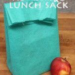 DIY Reusable Lunch Sack