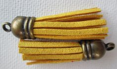 2PCS  Fringe Tassel with Antique Bronze Caps  35mm  by ZARDENIA, $2.50