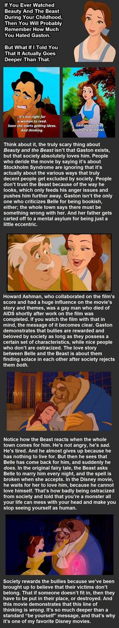 This Just Changed The Way I See Beauty And The Beast. I don't agree with the lifestyle of homosexuals... but that doesn't mean I have a right to belittle them. Bullying is wrong and it hurts in ways so deep