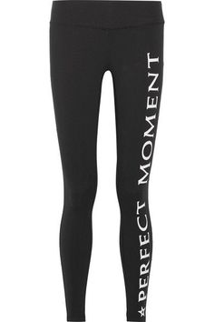 Perfect Moment - Printed Stretch Leggings - Black - large