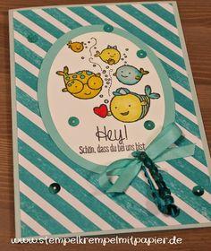 Stempelkrempel mit Papier Geburtstagskarte für Kinder oder zur Geburt