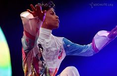 """""""Prince performing at a French festival."""""""