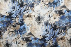 Floral Viscose Voile Chiffon Print Dress Fabric Material (Ivory/Blue/Beige) in Crafts, Fabric | eBay