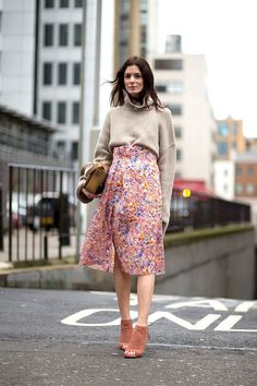 floral skirts for fall? actually groundbreaking!