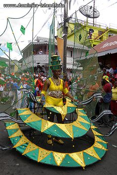 Woman in the Carnival Corner Band. Photo from the Carnival Tuesday Parade on 16 February, 2010 | Dominica Island: Photo Travel Guide