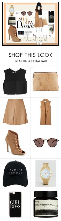 """""""Untitled #683"""" by debysilviaa on Polyvore featuring McQ by Alexander McQueen, 3.1 Phillip Lim, Alice + Olivia, Alexander Wang, Gianvito Rossi, Oliver Peoples, Nasaseasons, Nixon, Casetify and Aesop"""